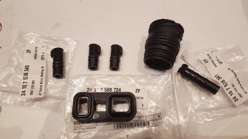 OEM ZF 6HP19Z 6HP19 6hp21 Valve Body Sleeve Connector Seal kit 6pcs BMW  Transmission